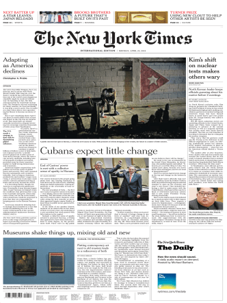 International New York Times - 23 April 2018