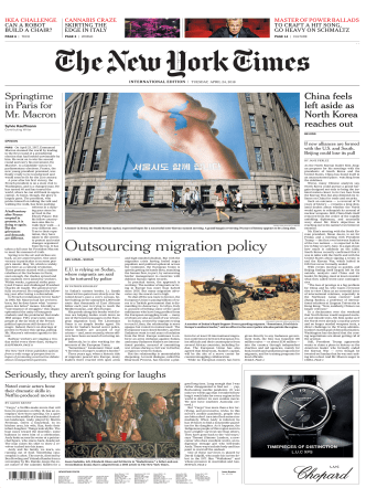 International New York Times - 24 April 2018