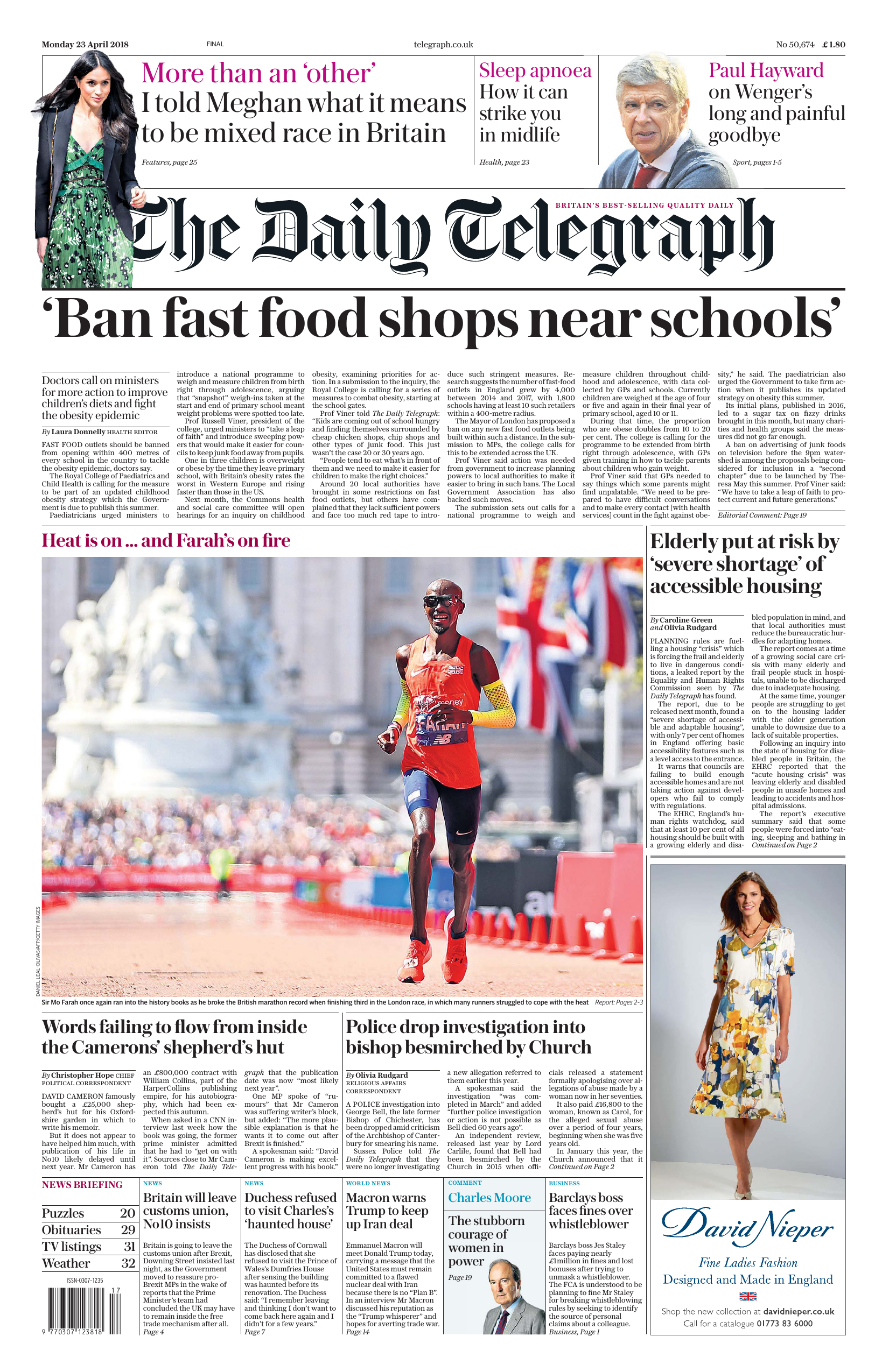 The Daily Telegraph April 23 2018