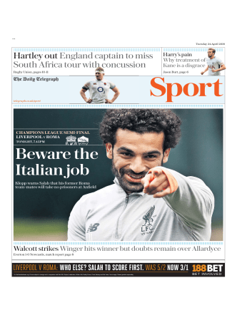 The Daily Telegraph Sport - April 24, 2018