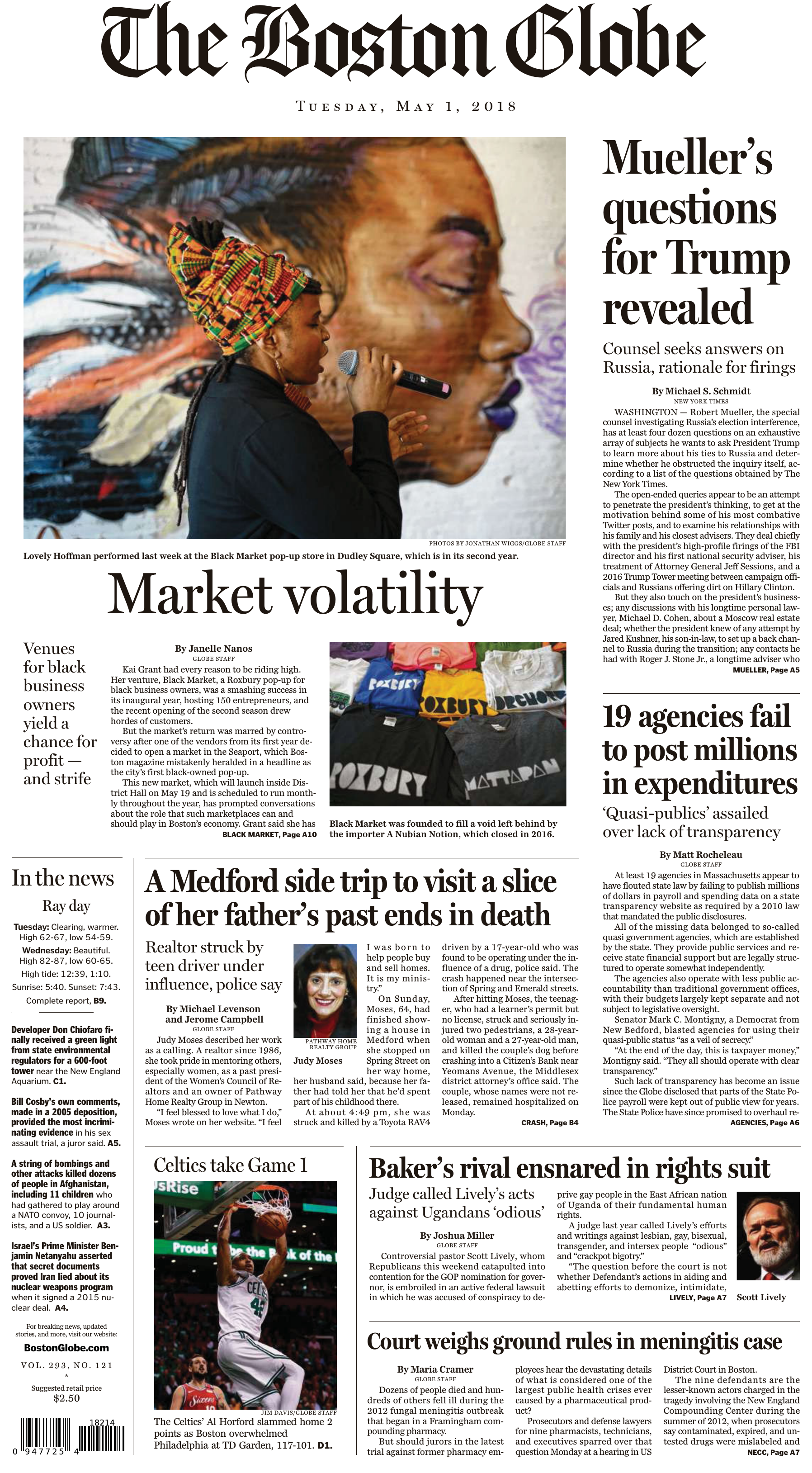 The Boston Globe – May 01 2018