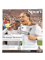 The Daily Telegraph Sport  May 3 2018