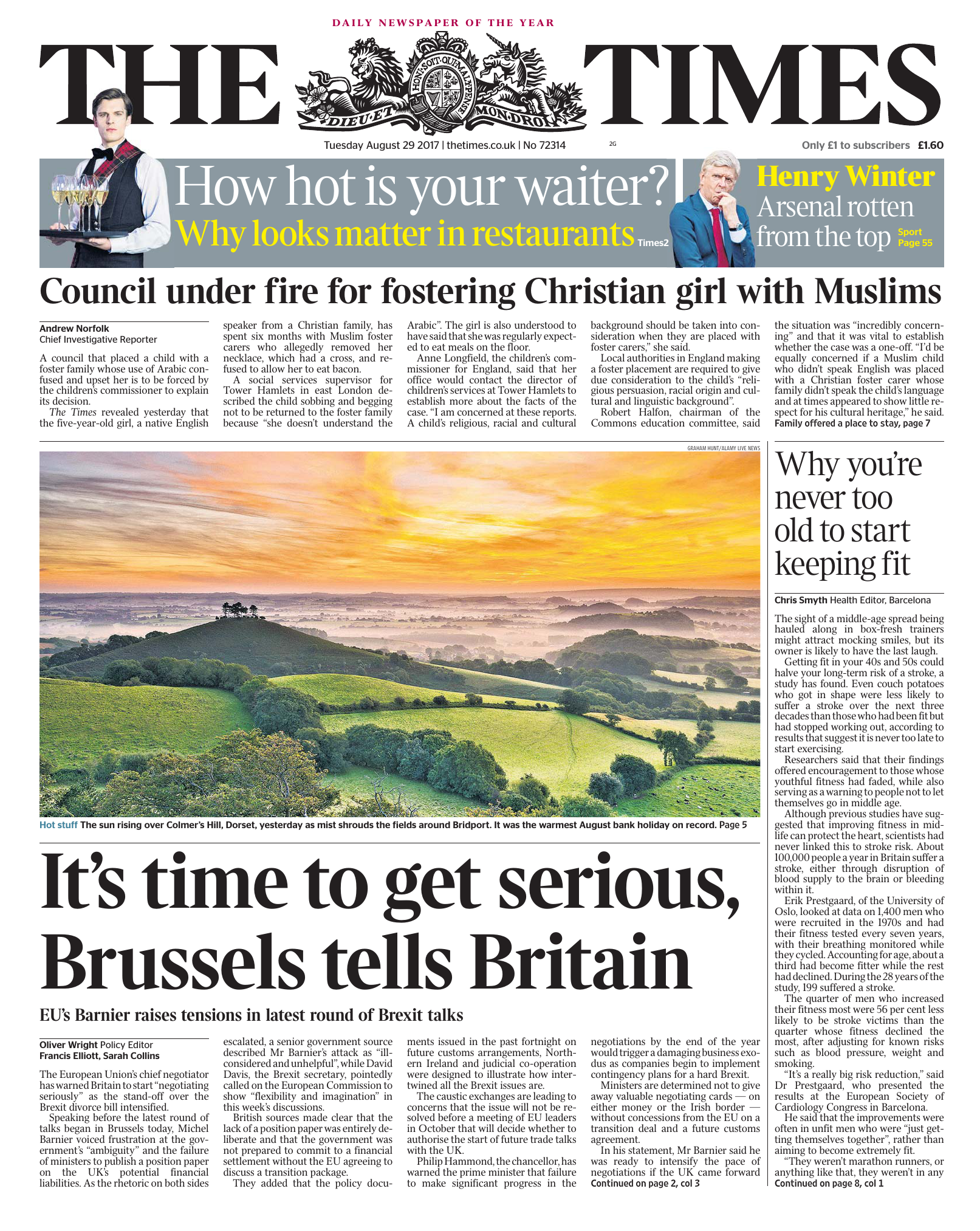 the times 29 august 2017