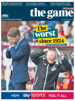 The Times The Game 11 September 2017