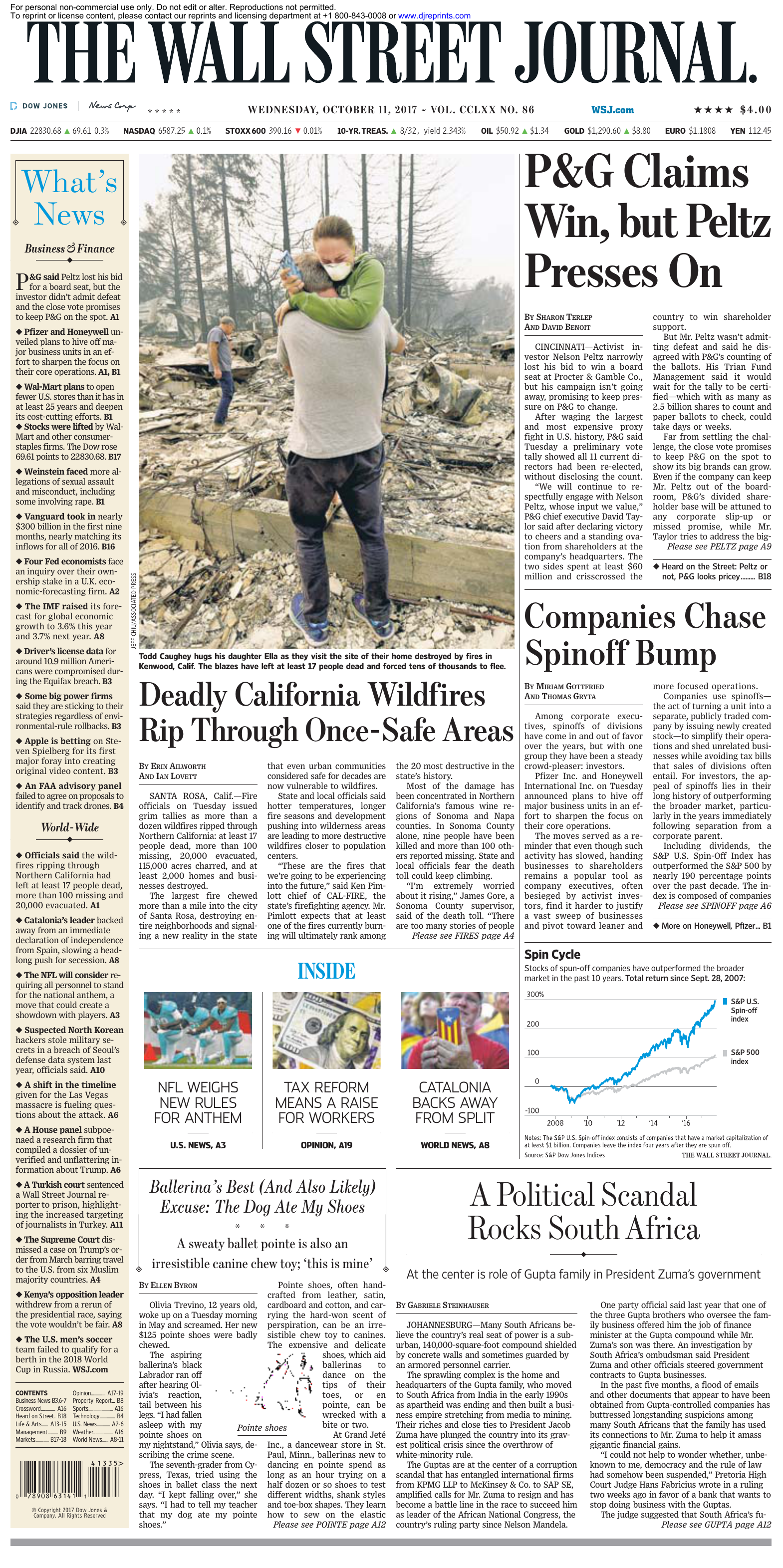 ca5b5d29eab The Wall Street Journal - 11 October 2017