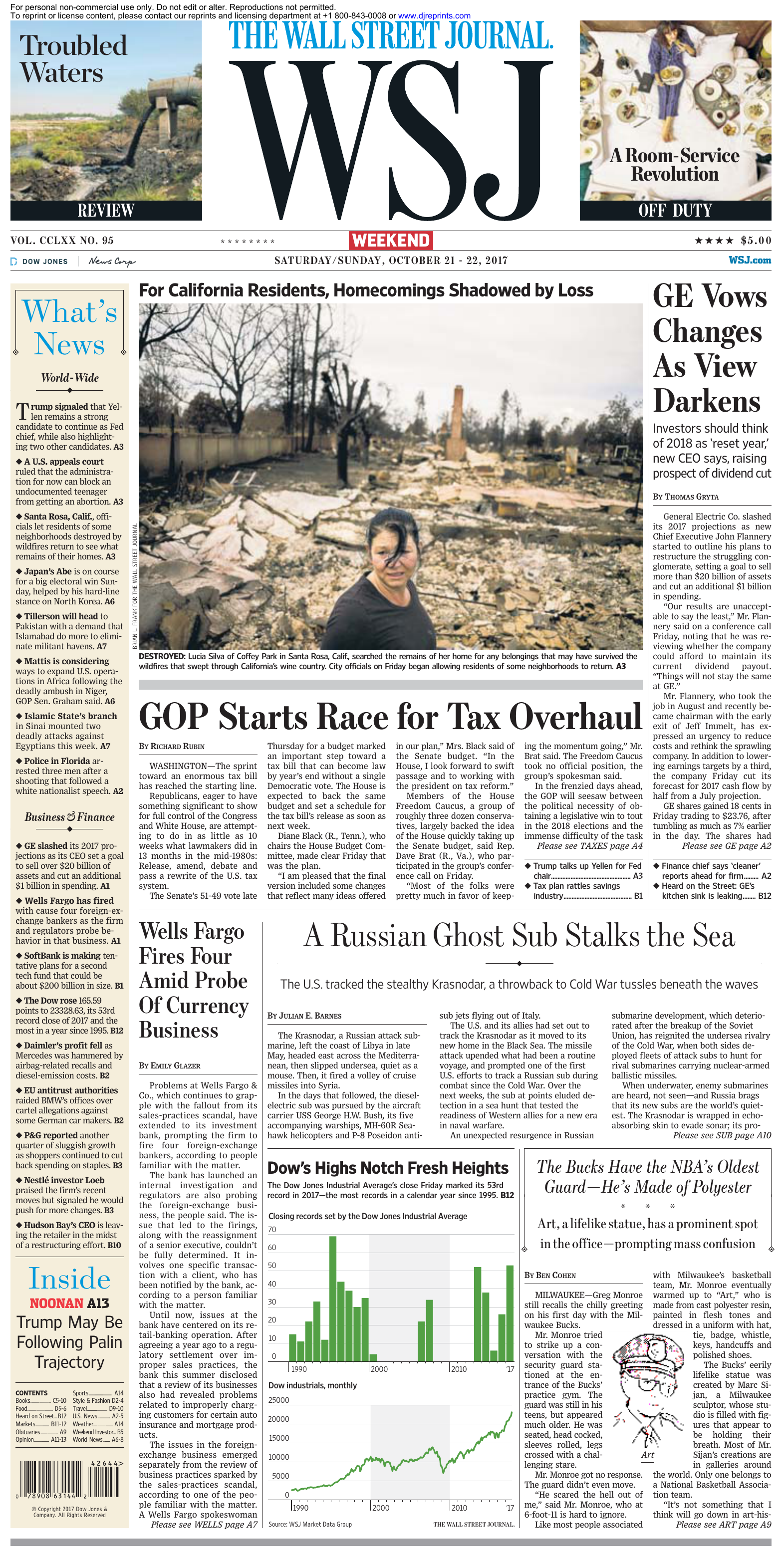 50b48b22c44 The Wall Street Journal - 21 October 2017
