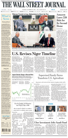 The Wall Street Journal - 24 October 2017