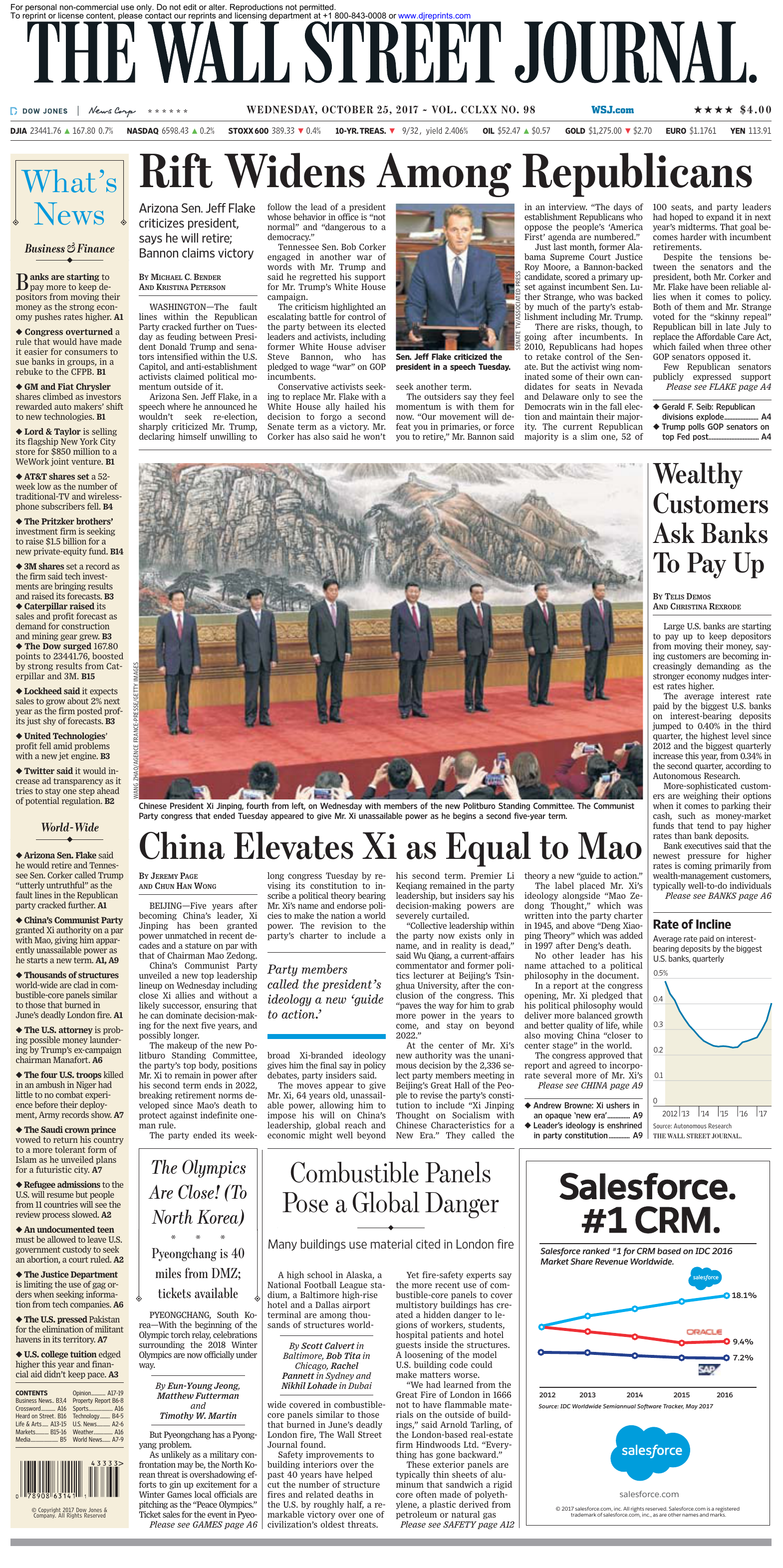 The Wall Street Journal - 25 October 2017