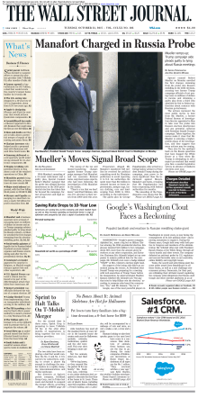The Wall Street Journal - 31 October 2017