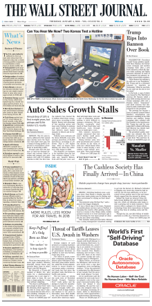 The Wall Street Journal - January 4, 2018