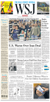The Wall Street Journal — January 13, 2018