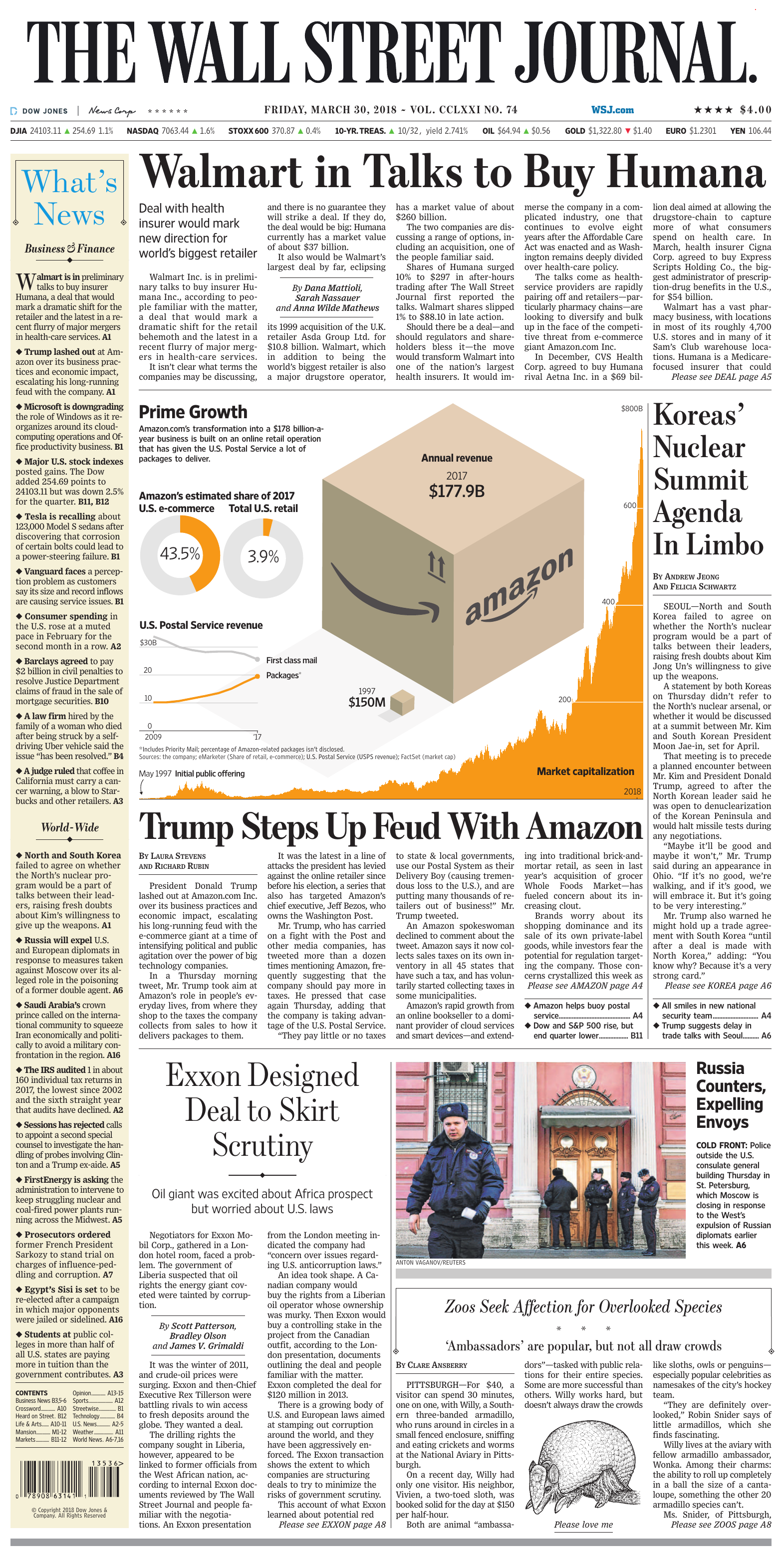 The Wall Street Journal - March 30, 2018
