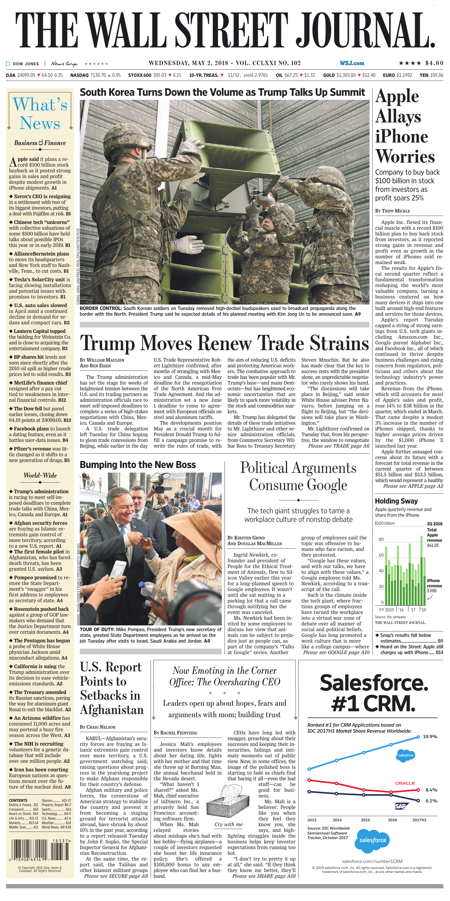 77a8008763ff The Wall Street Journal May 2 2018