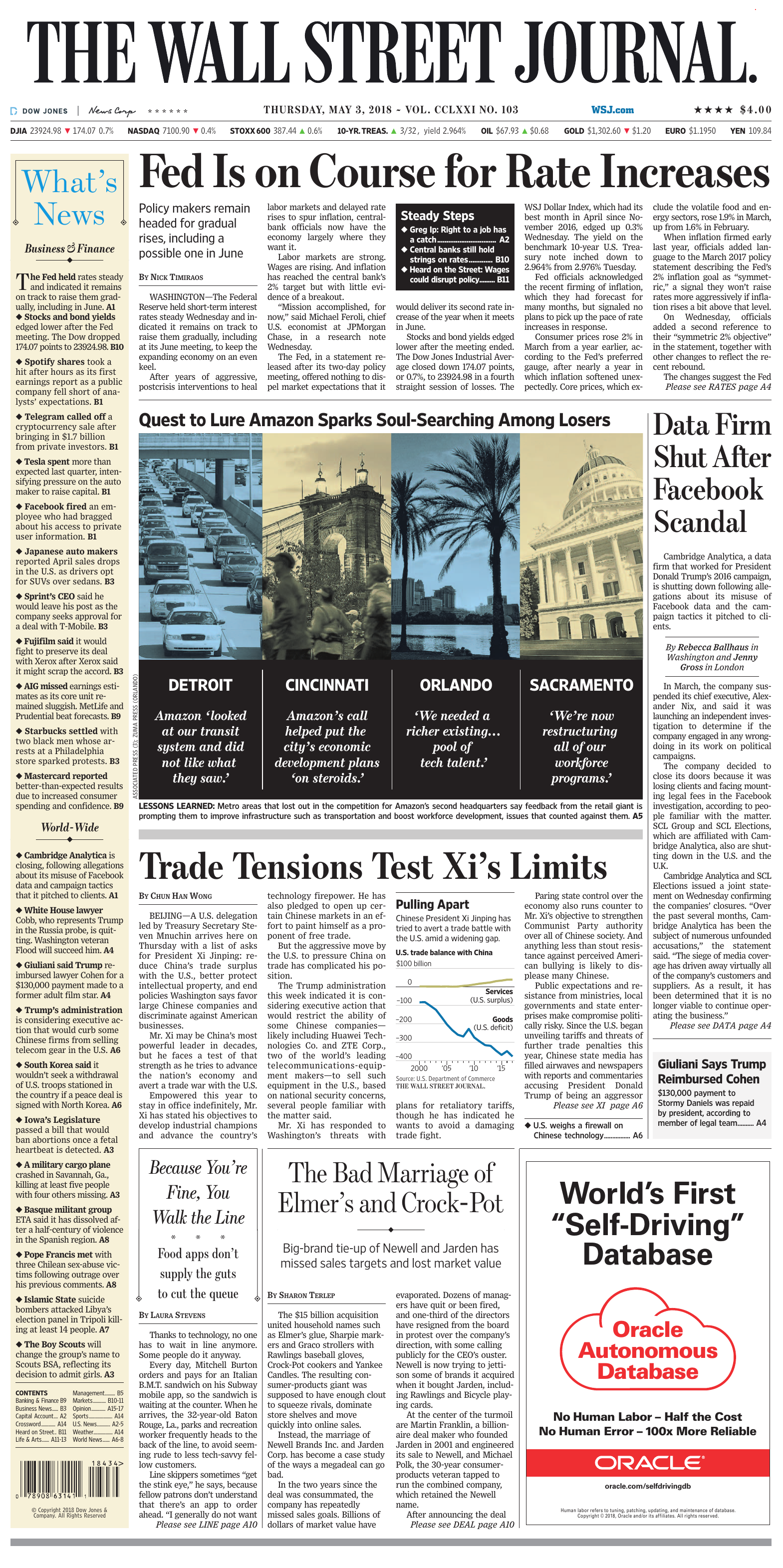 The Wall Street Journal May 3 2018