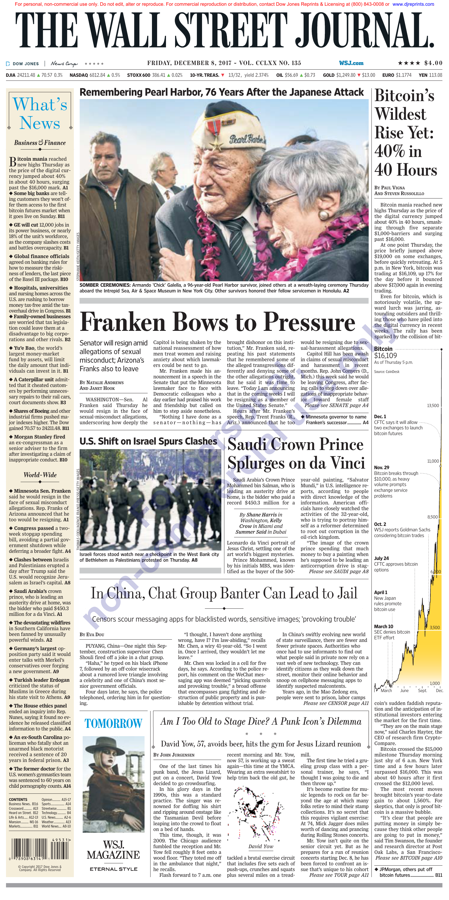 The Wall Street Journal December 08 2017
