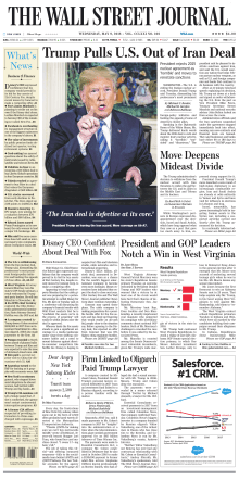 The Wall Street Journal - May 9, 2018