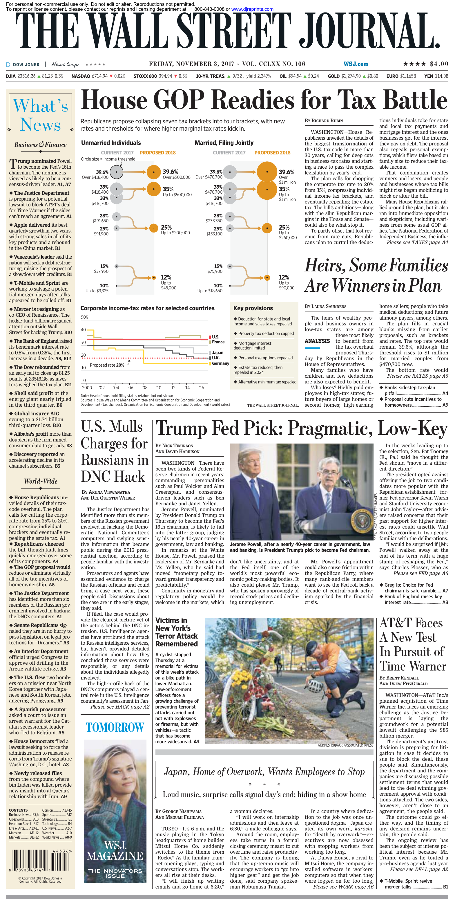 The Wall Street Journal November 03 2017