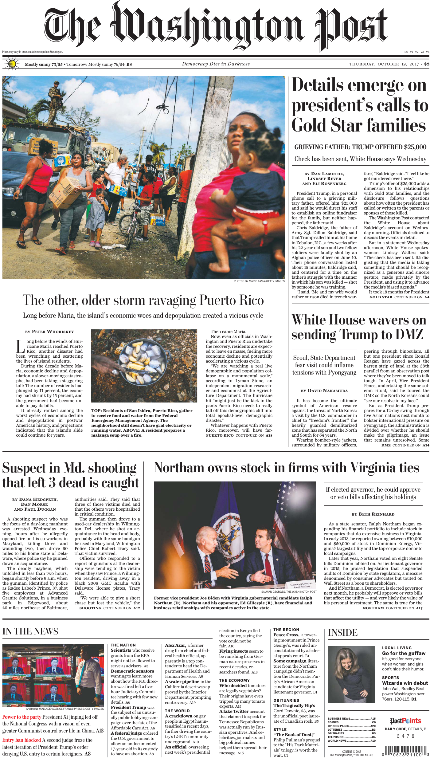 6c874553d The Washington Post – 19 October 2017