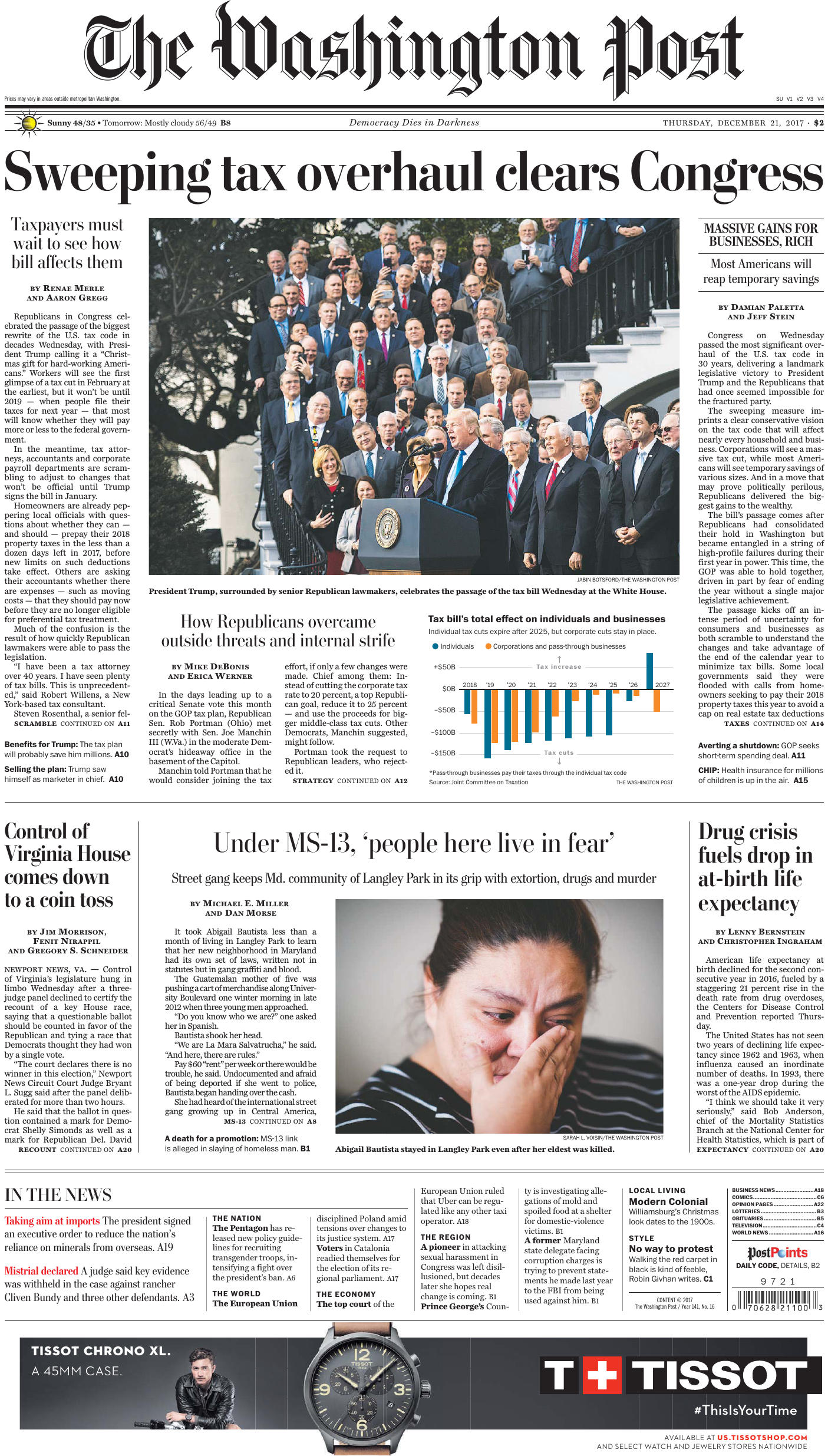 separation shoes 0403d 5a795 The Washington Post – December 21, 2017
