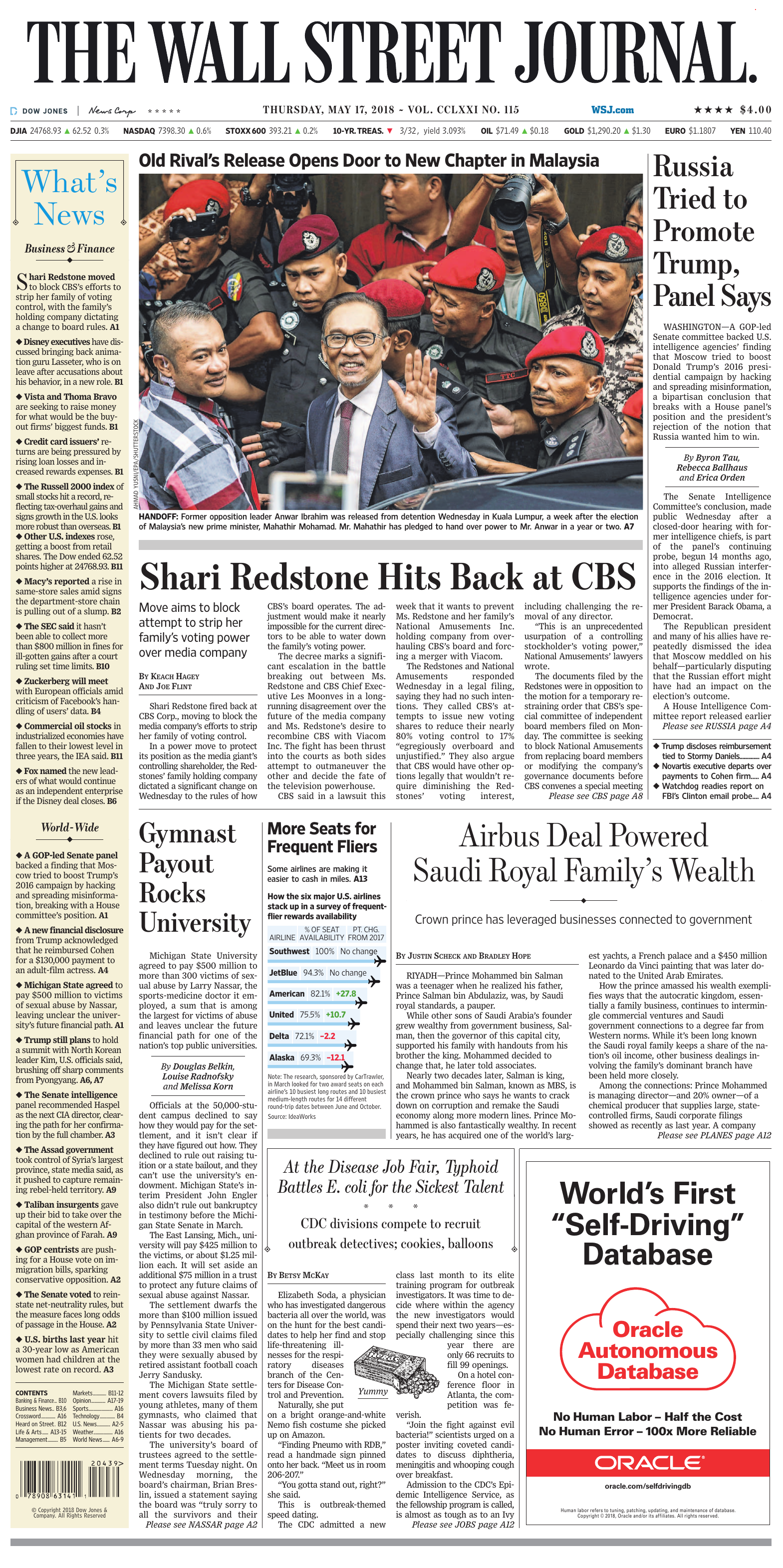 85795d5a3f7 The Wall Street Journal - May 17
