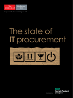 The Economist Intelligence Unit The state of IT procurement 2017