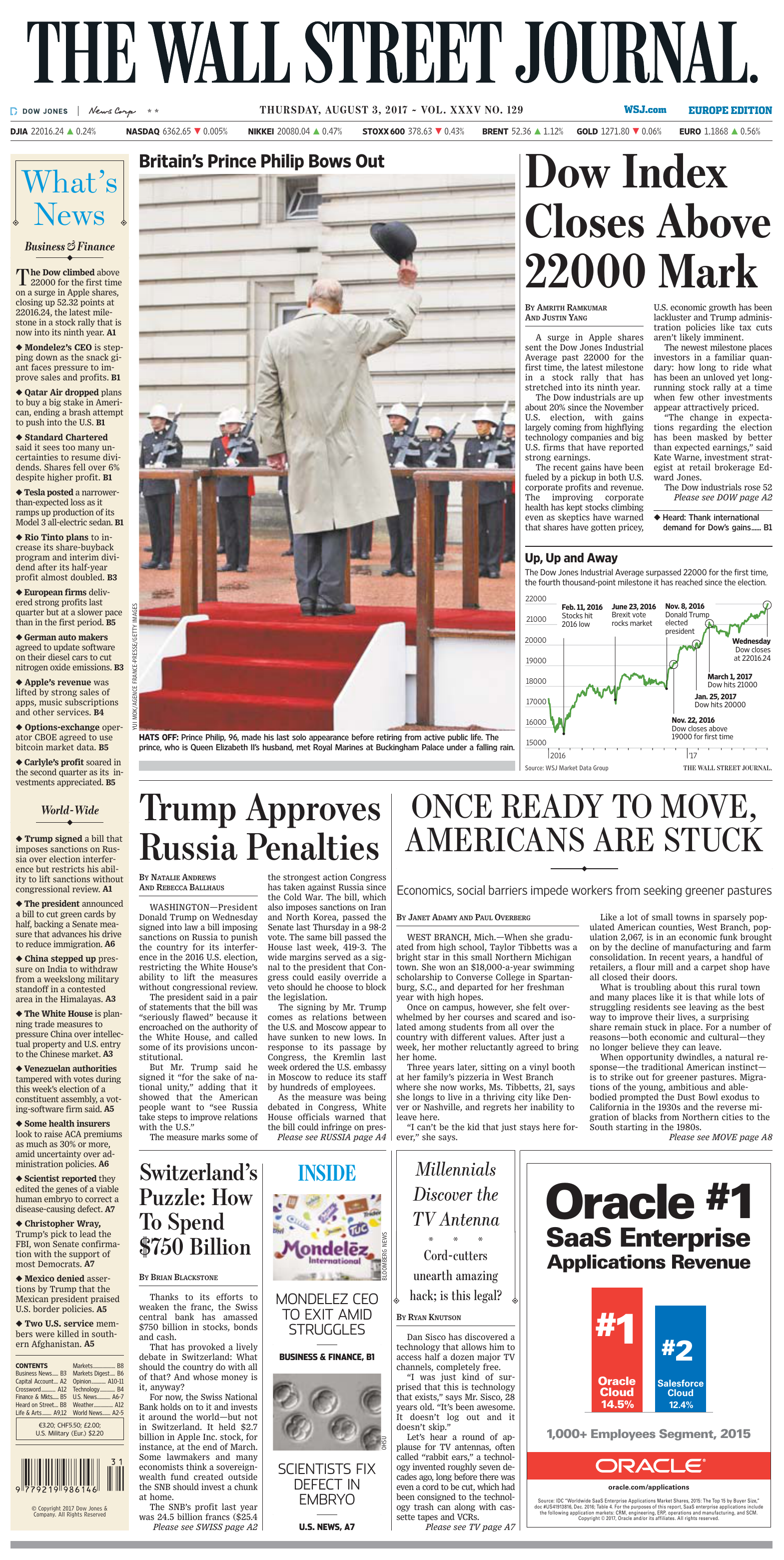ba2b5060eb The Wall Street Journal Europe 3 August 2017