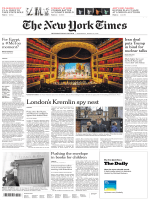 International New York Times - 14 March 2018