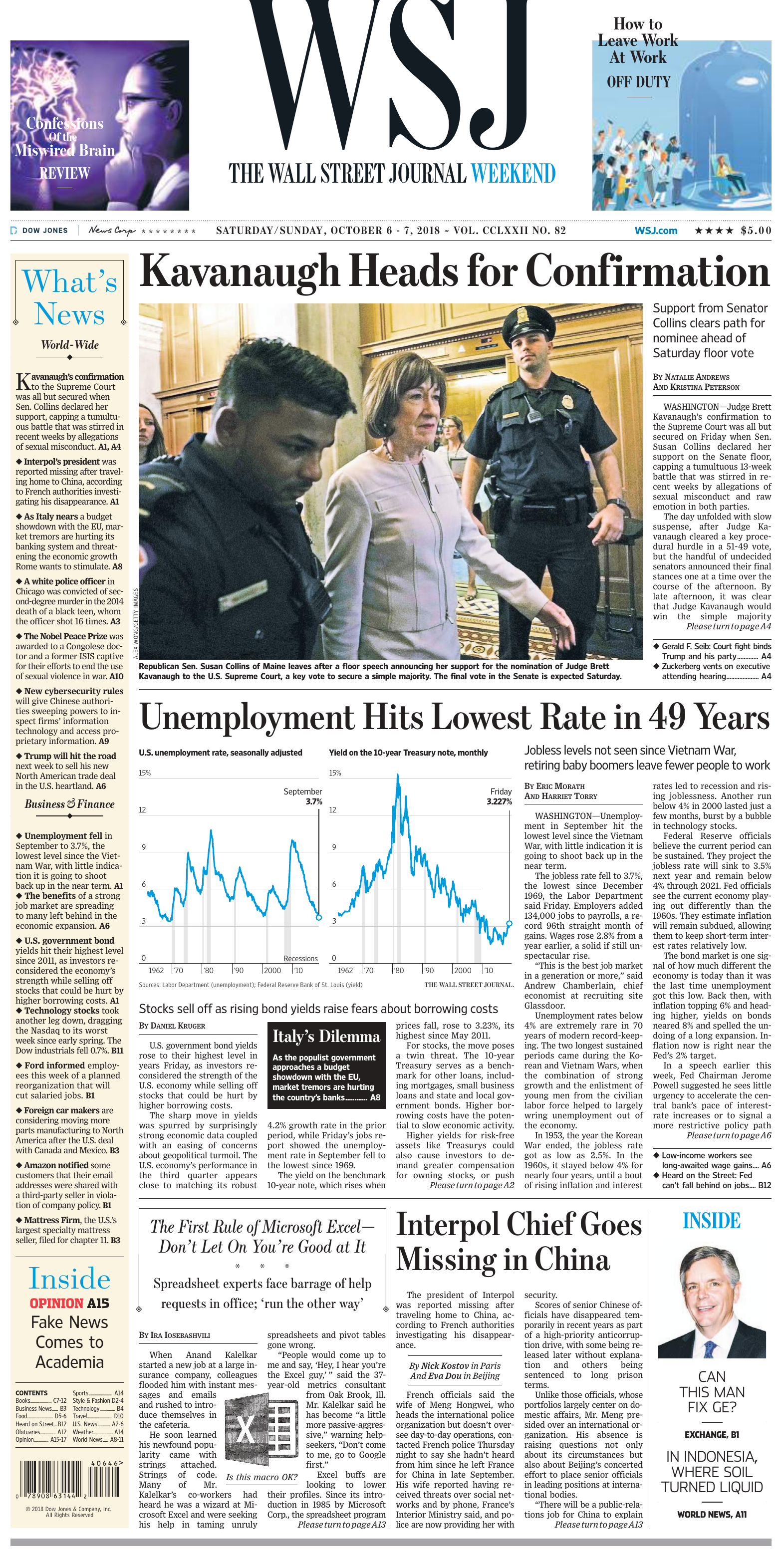 new arrival d742f 62d6d The Wall Street Journal Weekend 2018 10 06 y 07