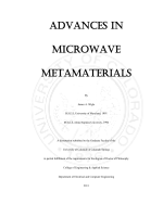 Advances In Microwave Metamaterials