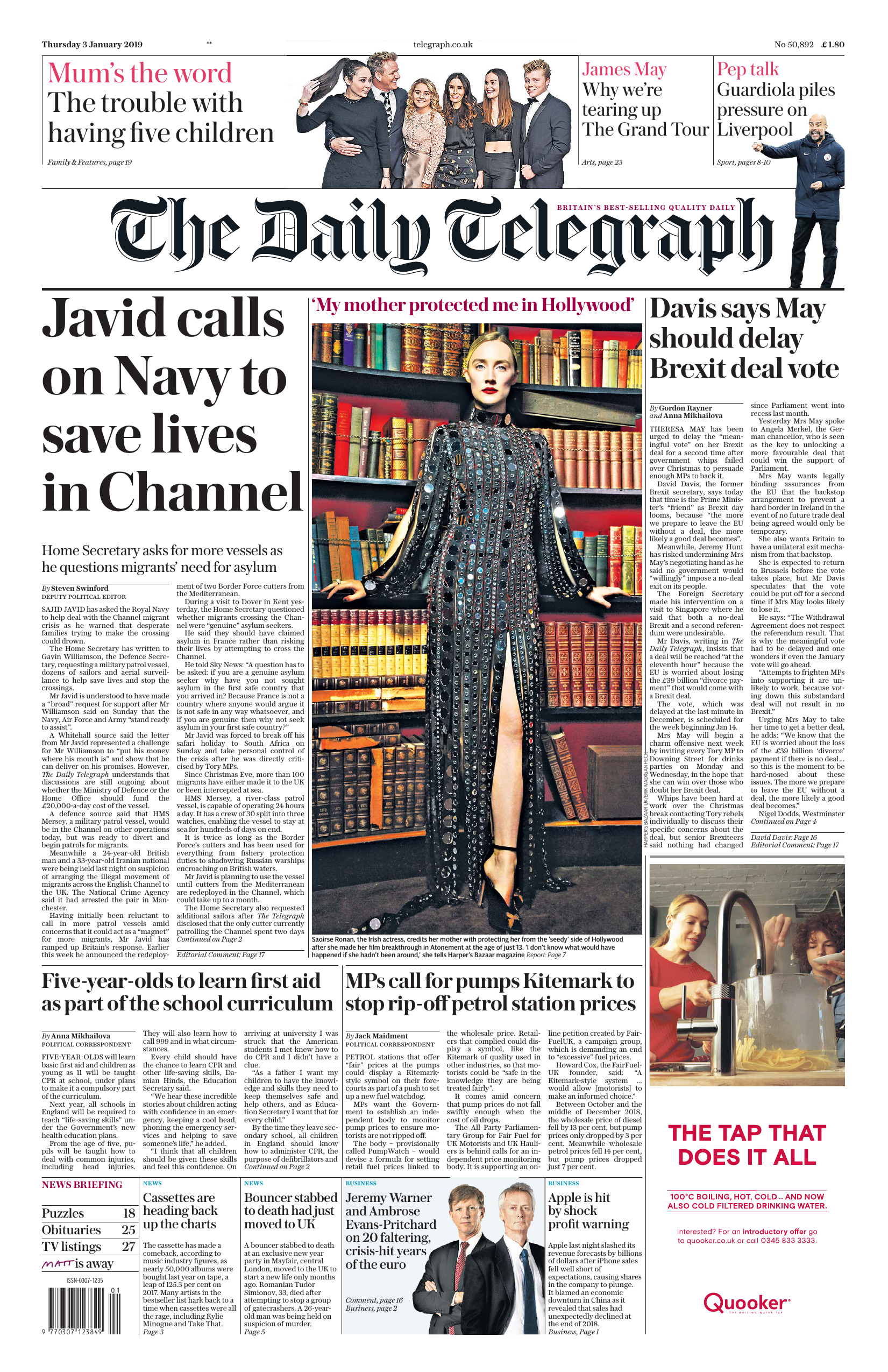c1d259a920521 The Daily Telegraph January 3 2019